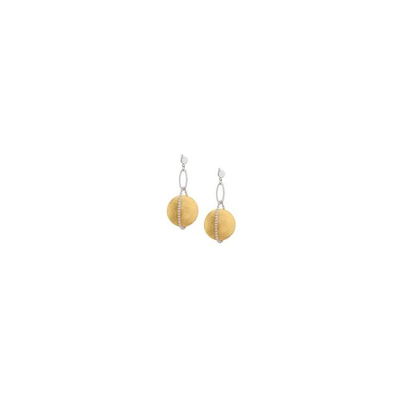Bennett's Jewels Sterling Silver YG PL Solar Wrap Earrings