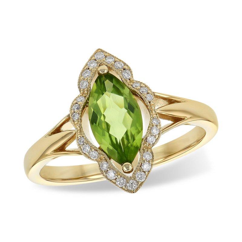 Bennett's Jewels 14KY Peridot & Diamond Ring
