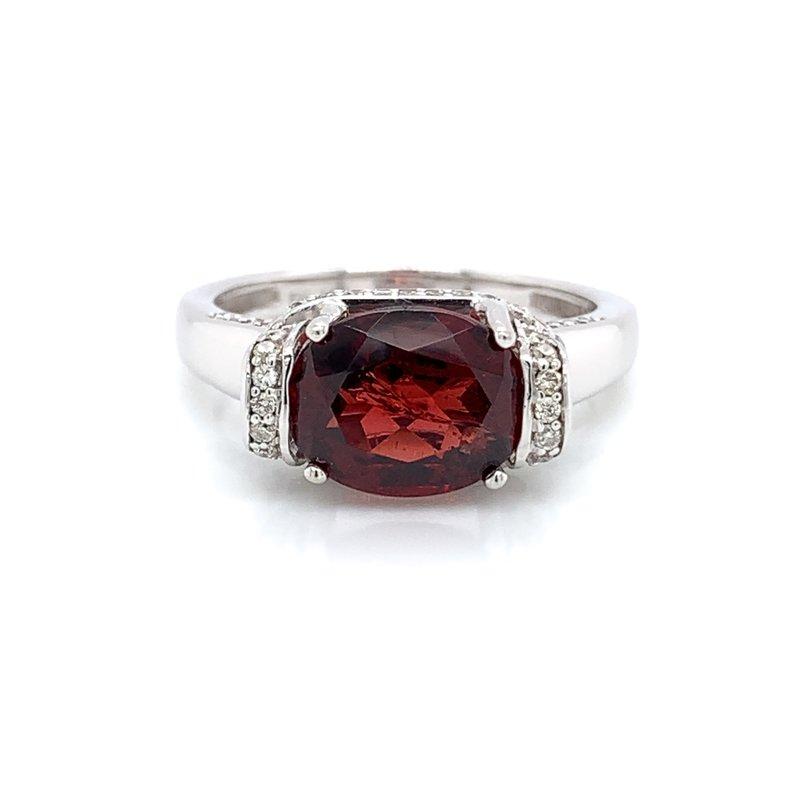 Bennett's Jewels 14KW Garnet Ring