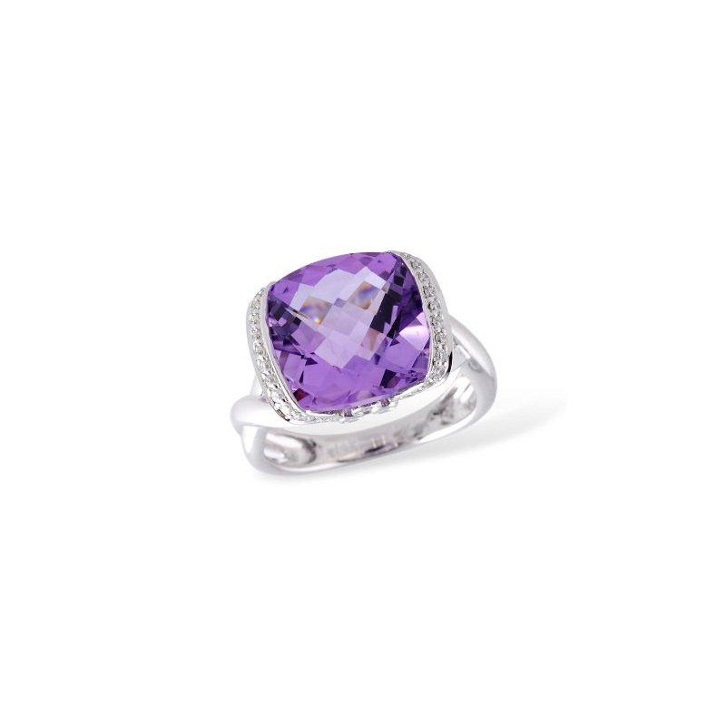 Bennett's Jewels 14KW Amethyst Ring