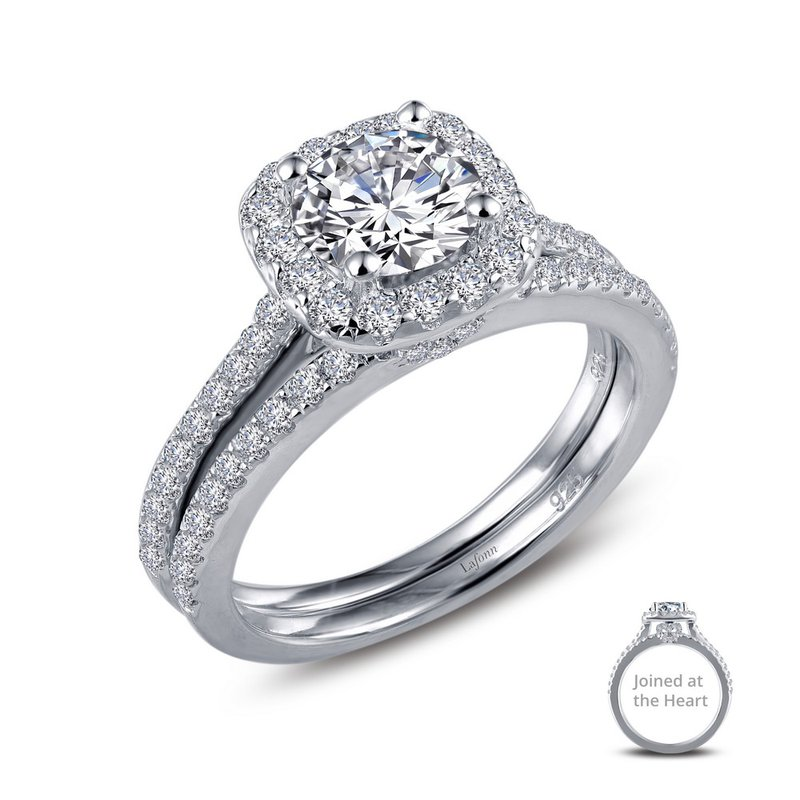 Bennett's Jewels Sterling Silver Platinum Simulated Diamond Ring