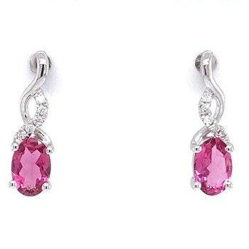 14KW Pink Tourmaline Earrings