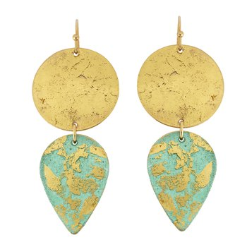 22KY Turquoise Earrings