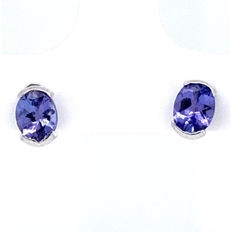 Bennett's Jewels 14KW Alexandrite Earrings