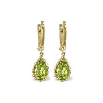14KY Peridot Earrings