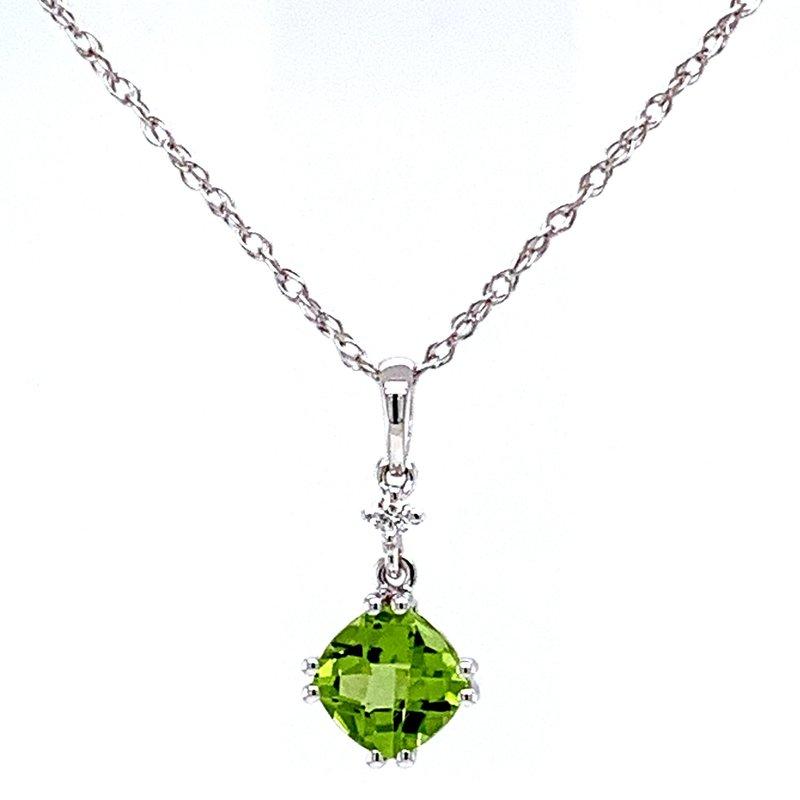 Bennett's Jewels 14KW Peridot Necklace