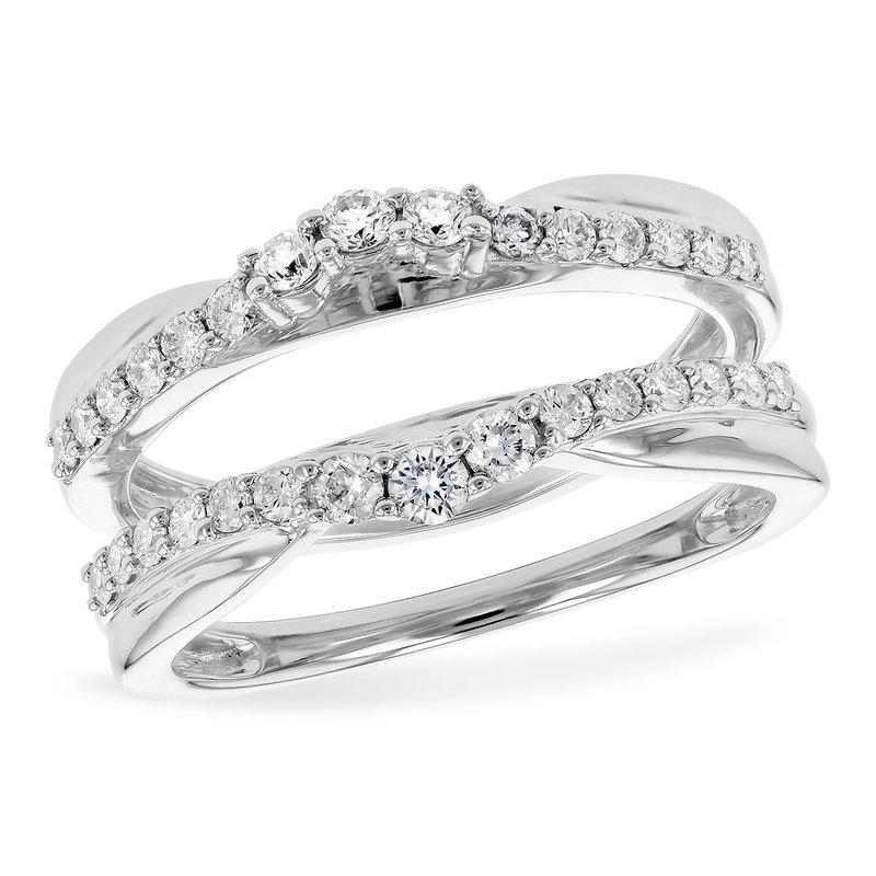 Bennett's Jewels 14KW Diamond Ring Guard