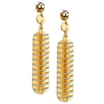 Sterling Silver YG PL Wrap Earrings
