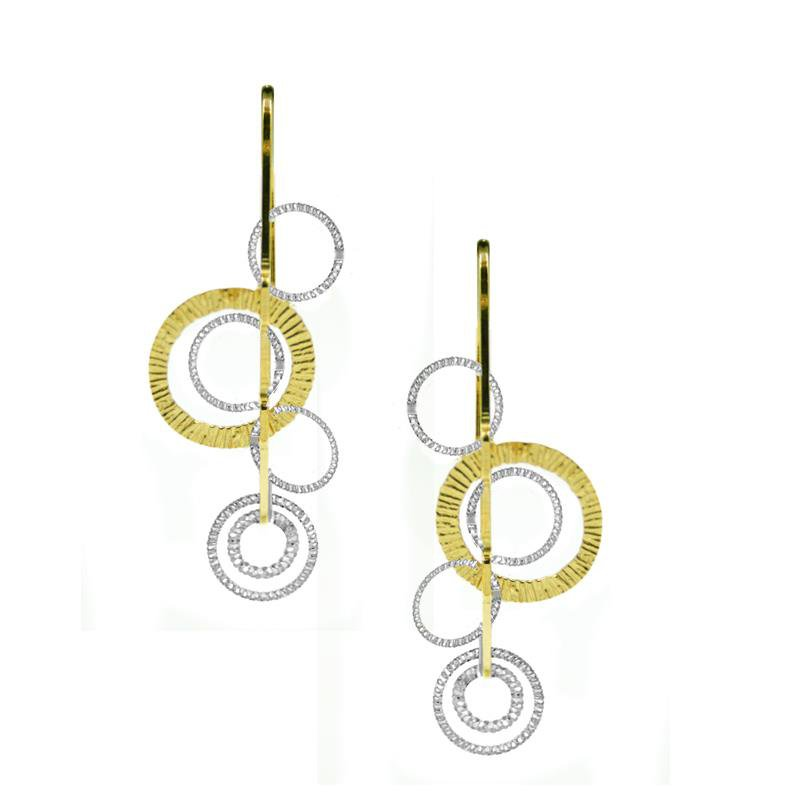 Bennett's Jewels Sterling Silver YG PL Curved Earrings