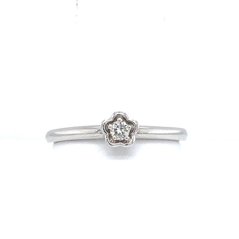 Bennett's Jewels 14KW Diamond Flower Ring