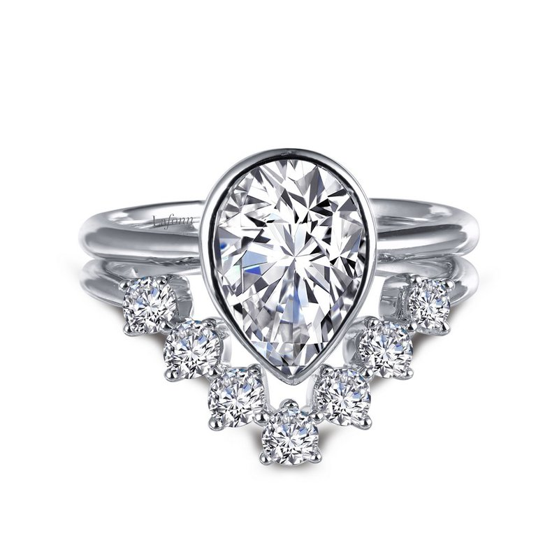 Bennett's Jewels Sterling Silver Simulated Diamond Ring - Set