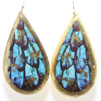 22KY Turquoise Butterfly Teardrop