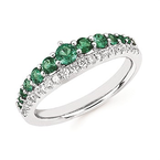 Bennett's Jewels 14KW Emerald Band