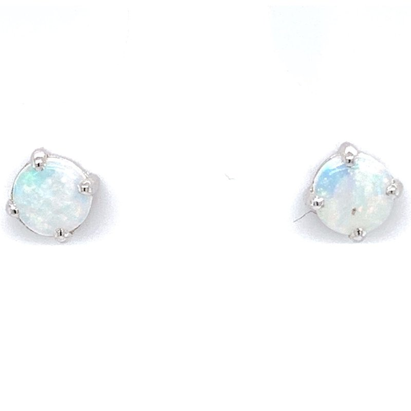 Bennett's Jewels Sterling Silver Opal Earrings