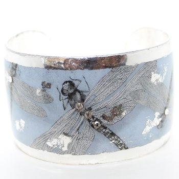 Cuff Bracelet - Dragonfly with Swarovski Crystal