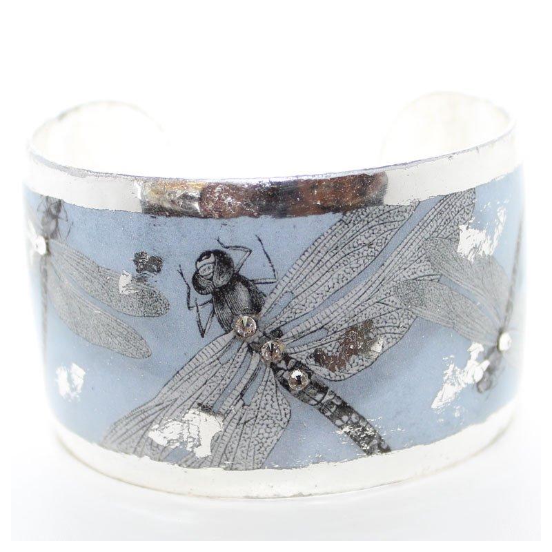 Bennett's Jewels Cuff Bracelet - Dragonfly with Swarovski Crystal