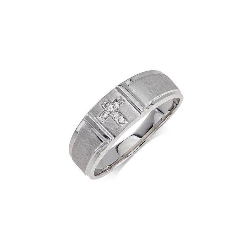 Bennett's Jewels 10K White Gold Cross Ring