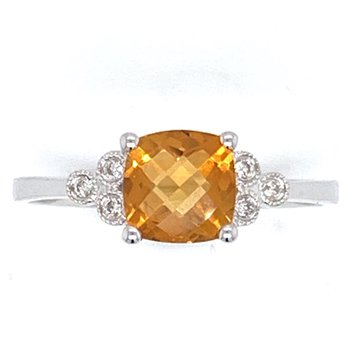 14KW Citrine Ring