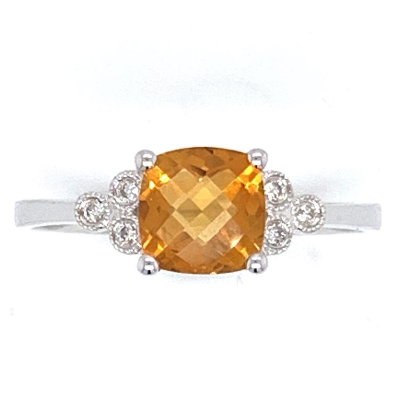 Bennett's Jewels 14KW Citrine Ring