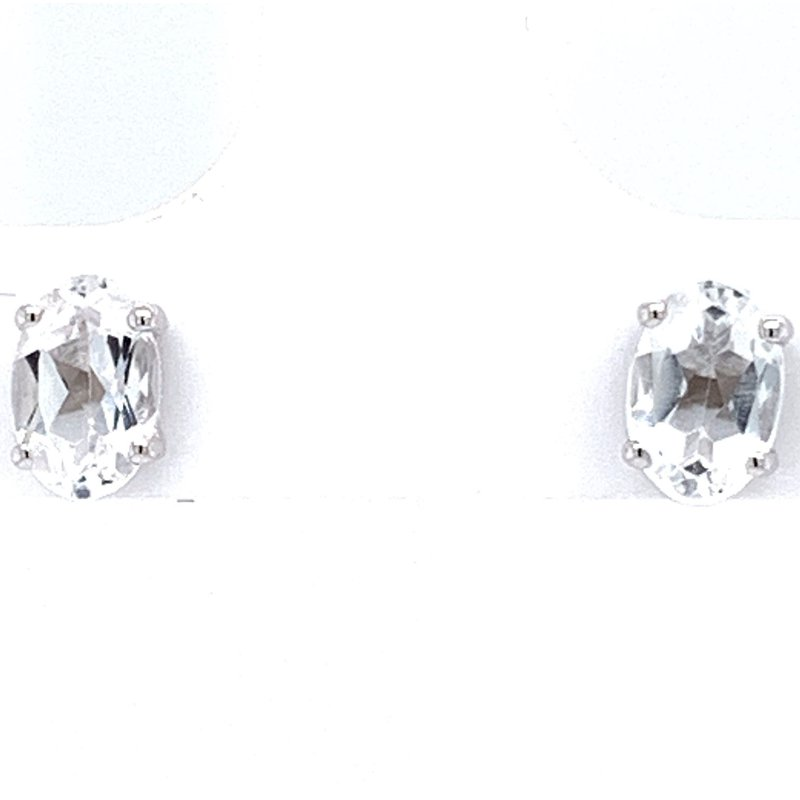 Bennett's Jewels 14KW White Topaz Earrings