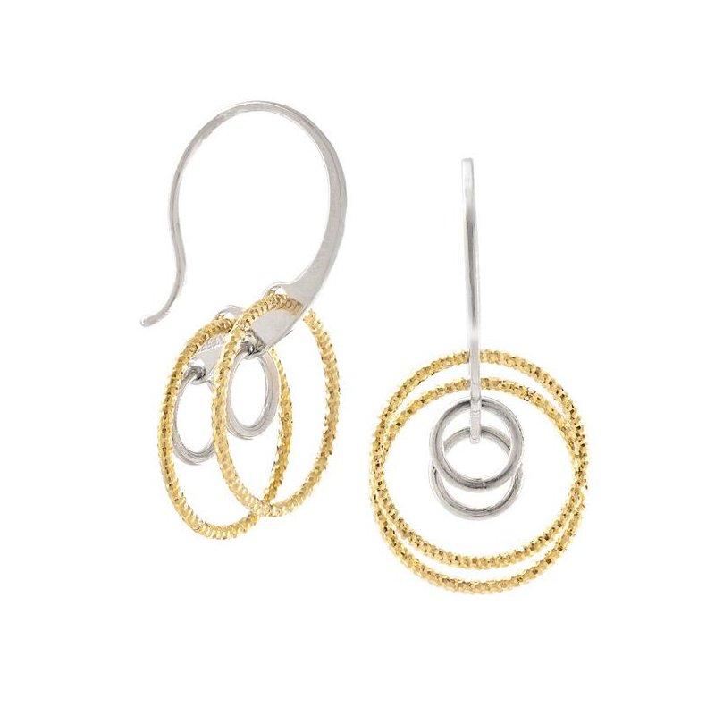 Bennett's Jewels Sterling Silver GP Circle Earrings