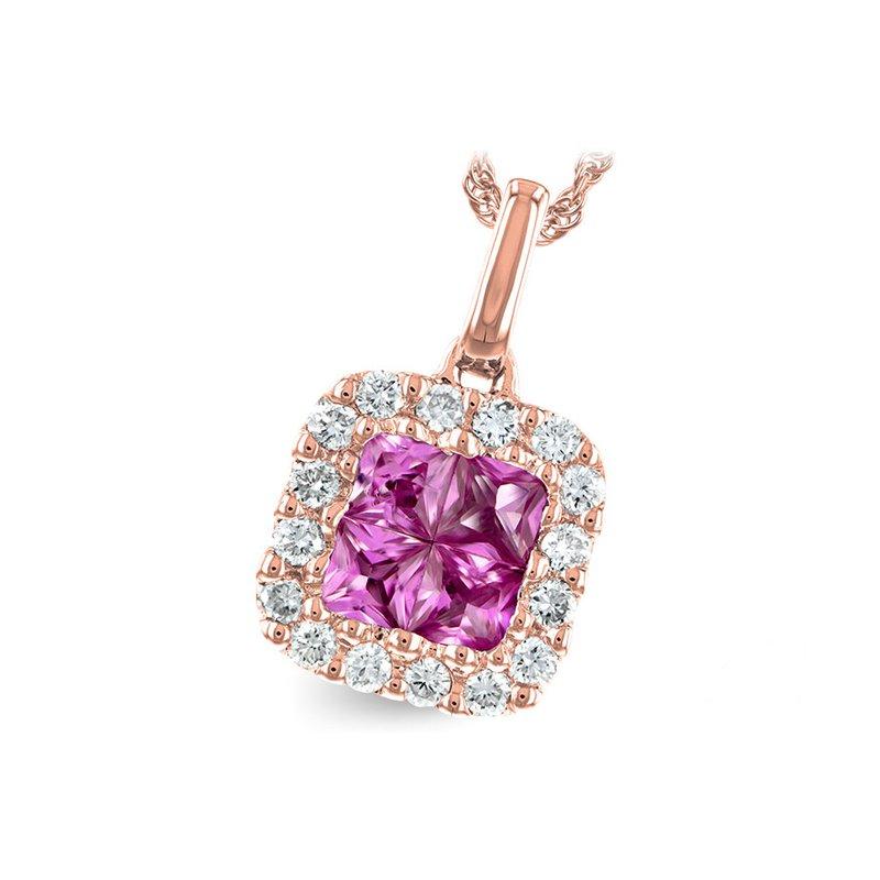 Bennett's Jewels 14KR Pink Sapphire & Diamond Necklace