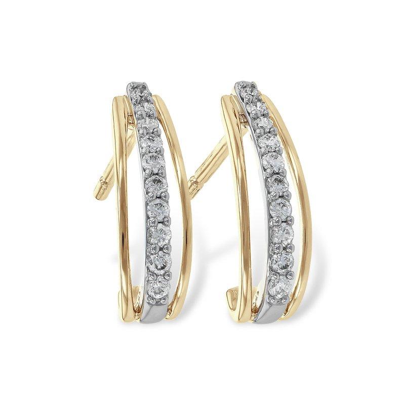 Bennett's Jewels 14KTT Diamond Half Hoops