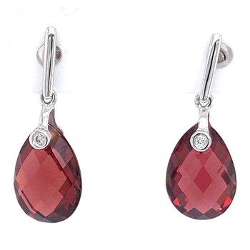 14KW Garnet Earrings