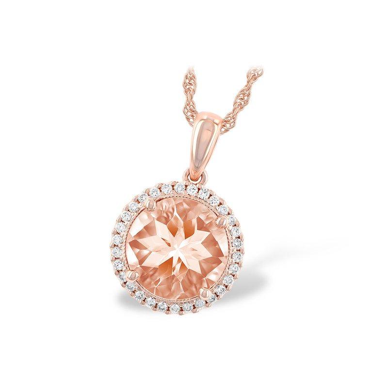 Bennett's Jewels 14KR Morganite & Diamond Necklace