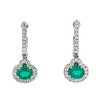 14KW Emerald Earrings
