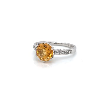 10KW Gold Citrine Ring