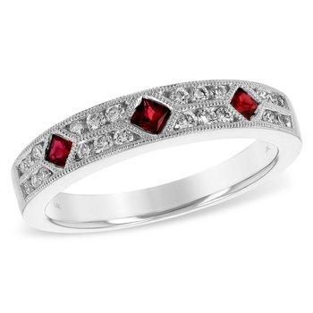14KW Ruby & Diamond Band