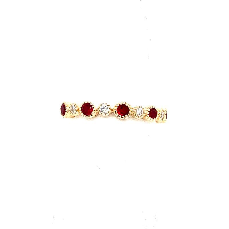 Bennett's Jewels 14KY Ruby & Diamond Ring