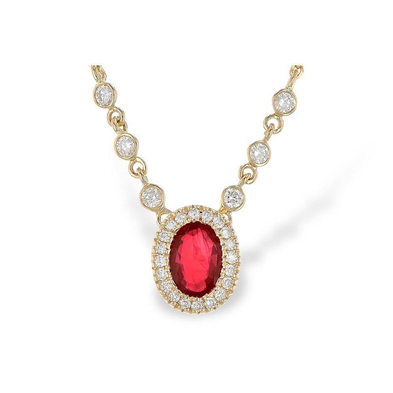 Bennett's Jewels 14KY Ruby & Diamond Necklace