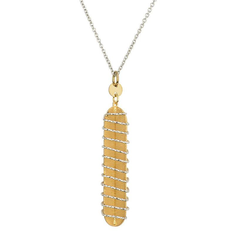 Bennett's Jewels Sterling Silver YG PL Wrap Necklace