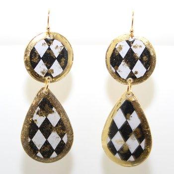 22KY Double Drop Earrings
