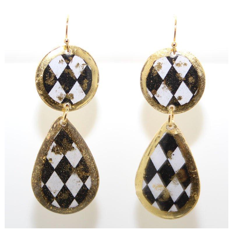Bennett's Jewels 22KY Double Drop Earrings