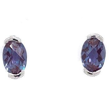 14KW Alexandrite Earrings