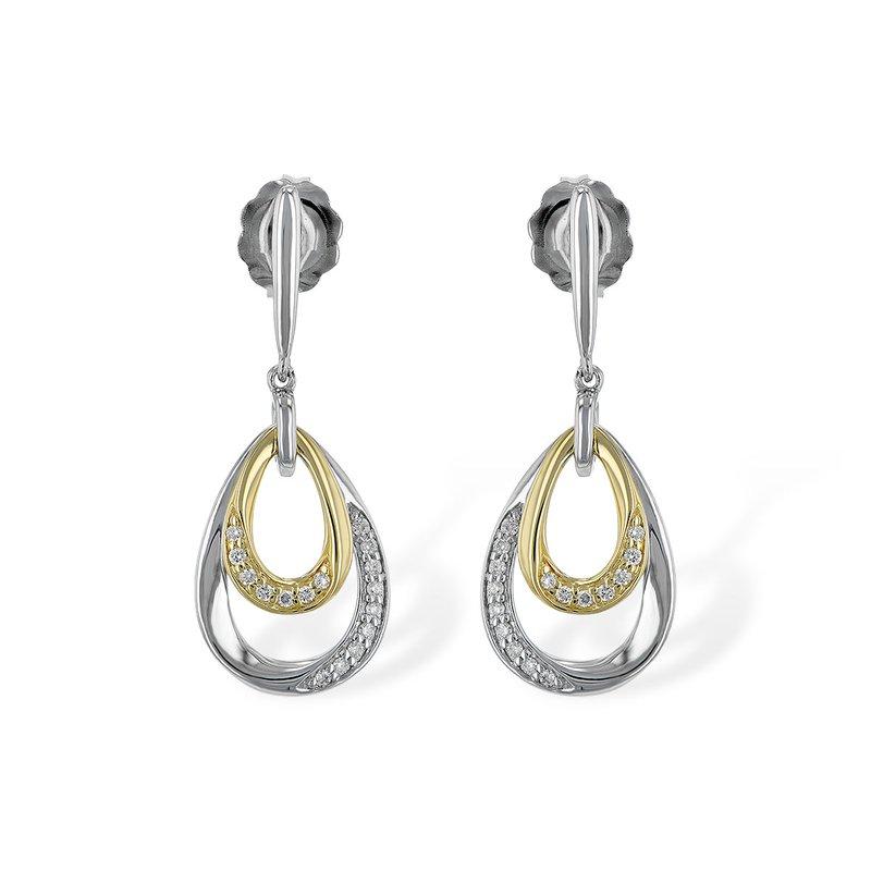 Bennett's Jewels 14KTT Diamond Earrings