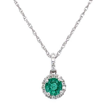 14KW Emerald Necklace
