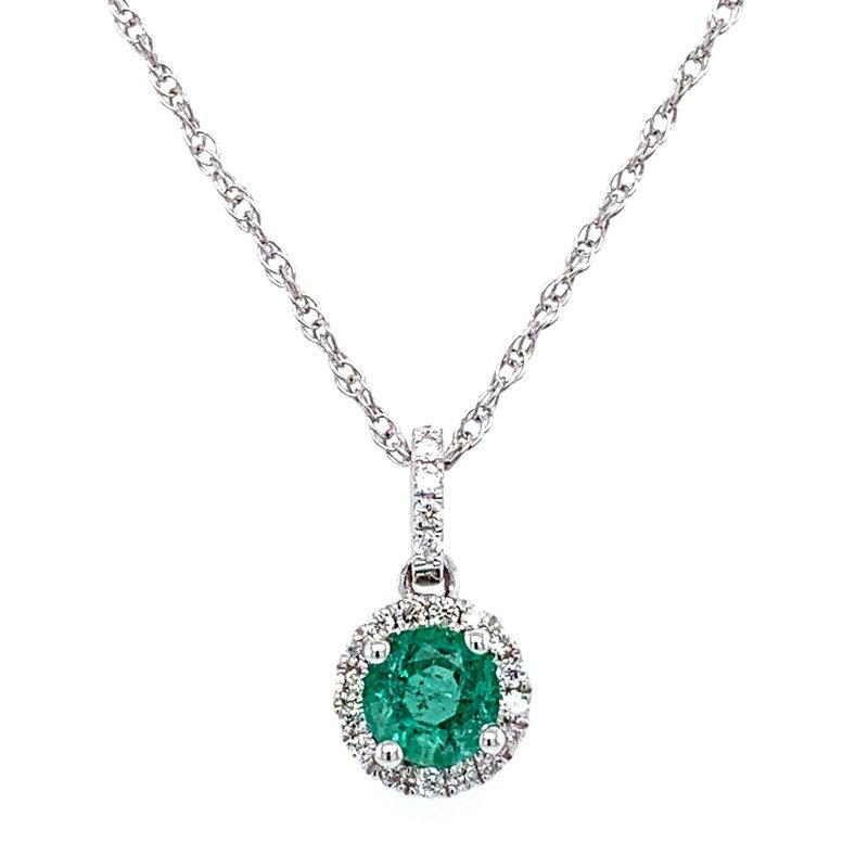 Bennett's Jewels 14KW Emerald Necklace