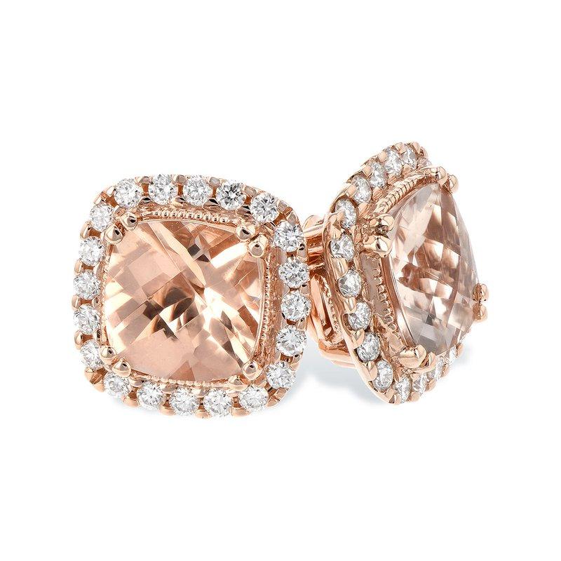 Bennett's Jewels 14KR Morganite & Diamond Earrings
