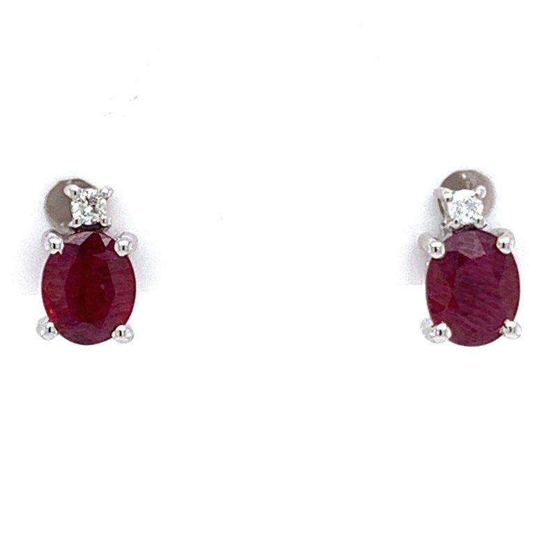 Bennett's Jewels 14KW Ruby Earrings