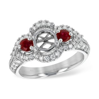 14KW Ruby & Diamond Ring
