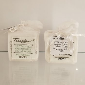 Faceplant Dreams Organic Reusable Facial Wipes