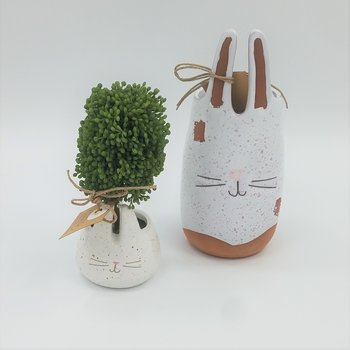 Terracotta Bunny Vases