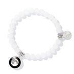 Moonglow Beaded Bracelet in White
