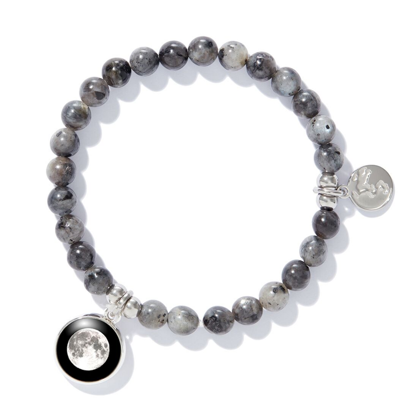 Moonglow Beaded Bracelet in Black