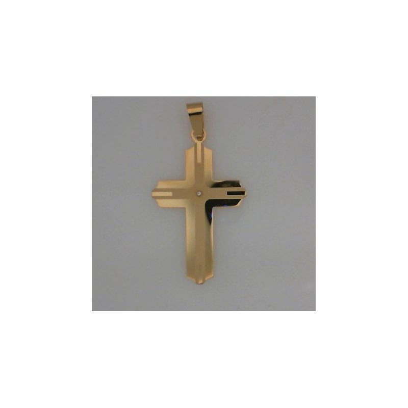 The  Collection Cross Pendant With Cz