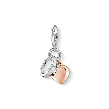 Charm Pendant Ring With Heart